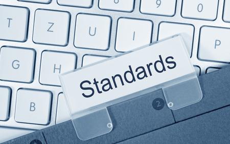 Standards Ordner auf Computer-Tastatur