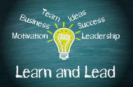 Leer en Lead Business Concept Stockfoto