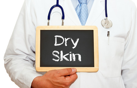 Droge huid - Doctor met krijtbord