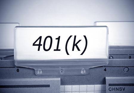 401k registro de índice de carpeta - Jubilaciones y Pensiones