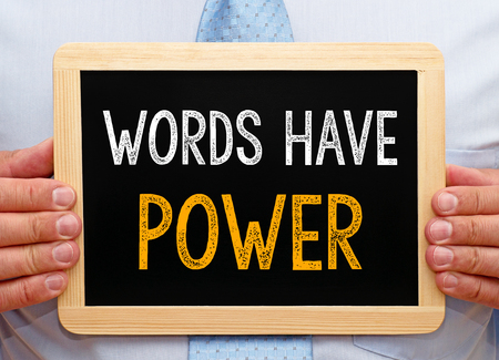 prose: Words have Power - Manager with chalkboard
