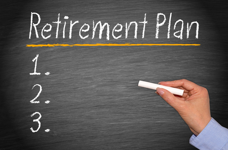 personal contribution: Retirement Plan Checklist Stock Photo