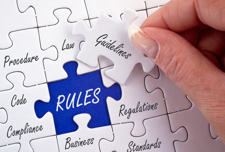 Rules Business Concept Standard-Bild