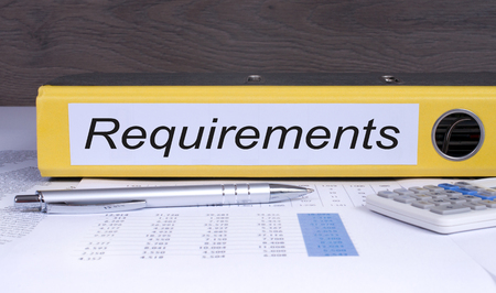 Requirements binder in the office Stock Photo