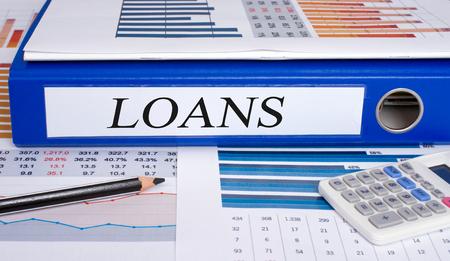loans: Loans binder in the office Stock Photo