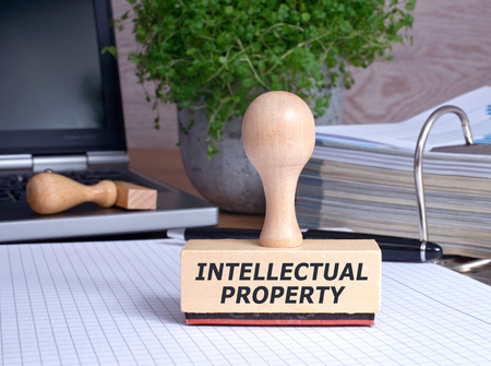 Intellectual Property Stamp in the Office Foto de archivo