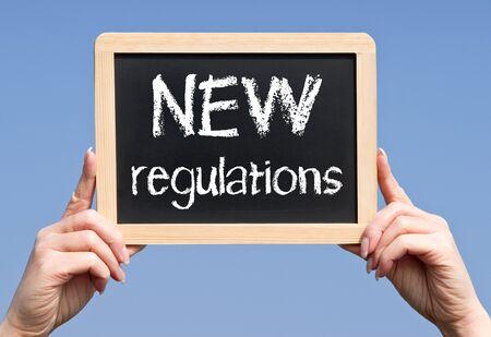 business change: NEW Regulations Stock Photo