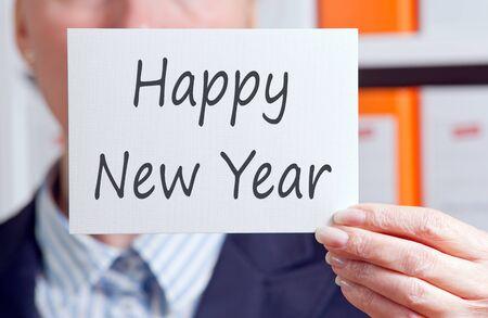next year: Happy New Year Stock Photo
