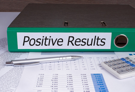 performance appraisal: Positive Results Binder in the Office Stock Photo