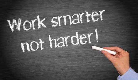 Trabajar mejor, no más - lema de negocios