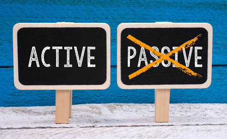 passive: Active instead of Passive - two little chalkboards