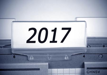 next year: 2017 Register Folder Index Stock Photo