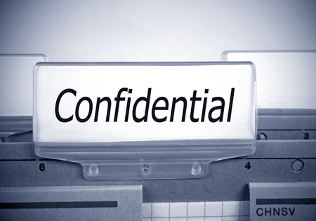 carpeta: Confidential Register Folder Index in the Office
