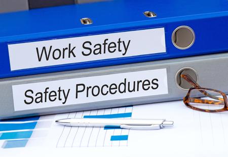 Il lavoro di sicurezza e procedure di sicurezza Binder Archivio Fotografico