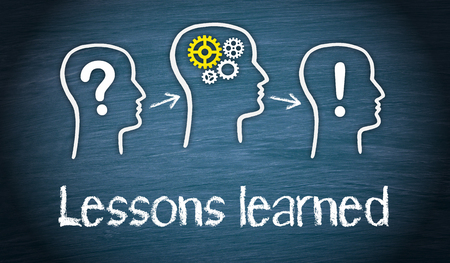 Lessons learned - Education and Knowledge Concept