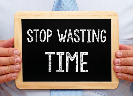 prioritization: Stop wasting Time Stock Photo