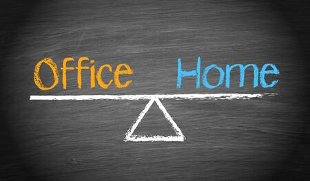 home office: Office and Home - Work-Life Balance Concept Stock Photo