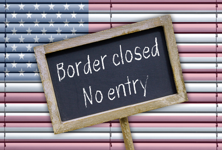 immigrate: Border closed - no entry Stock Photo