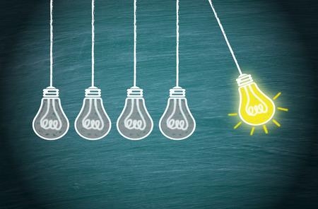Geweldig idee, innovatie en creativiteit Concept Stockfoto