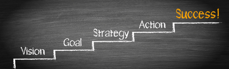 Success Ladder - step by step improvement Stock fotó - 74010908