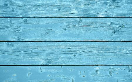 Wooden background texture horizontal with blue color