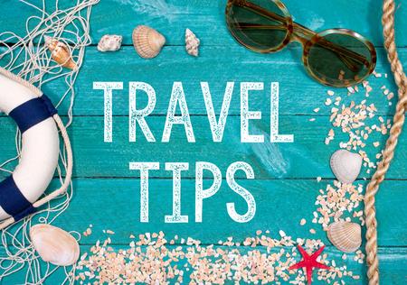 Travel Tips - summer beach holidays Archivio Fotografico