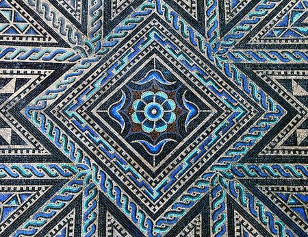 Ancient roman stone mosaic floor Archivio Fotografico