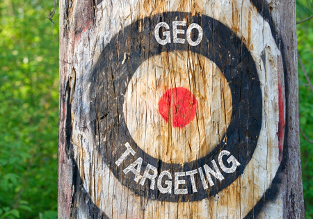 Geo Targeting - tree with target in the forest
