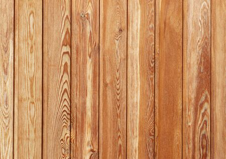 Wooden vertical plank - brown wood background texture Stock Photo