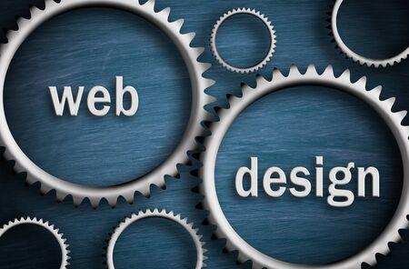 Web Design - Cogwheel Business Concept