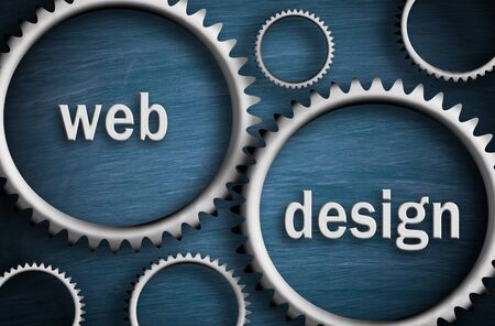 Web Design - Cogwheel Business Concept