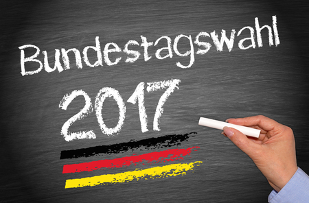 Elections in Germany 2017 - Bundestagswahl blackboard