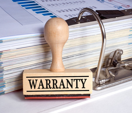 Warranty stamp in the Office