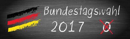 Elections in Germany 2017, Bundestagswahl Archivio Fotografico