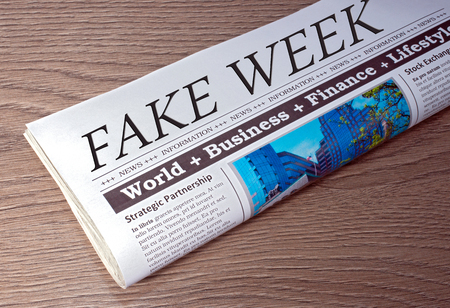 Fake Week Newspaper Stock Photo