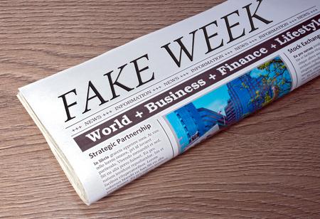 Fake Week Newspaper Archivio Fotografico