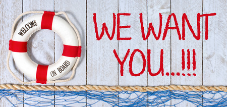 We want you, welcome on board