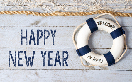 Happy New Year - welcome on board Stock fotó