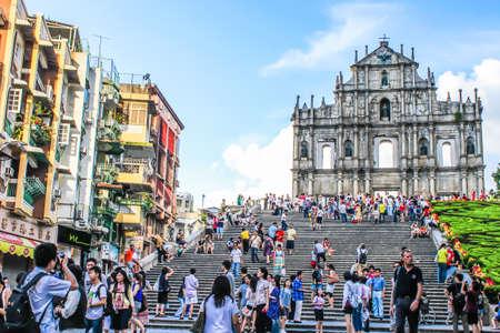 Macau - July,31 2010 : Ruin of St. Paul's church was considered as the greatest church in Macua. 報道画像