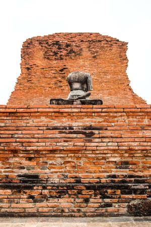 No head and hand Buddha in Thailand