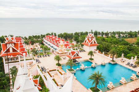Thai classic hotel and sea