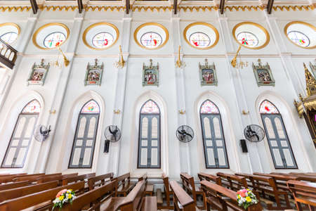 Wall and window inside Christ church in Thailand