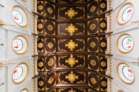 Classic ceiling of Christ church in thailand 版權商用圖片