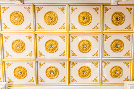 Golden ceiling of Christ church in thailand 版權商用圖片
