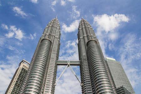 KUALA LUMPUR,MALAYSIA - JUNE 14, 2013: The Petronas Towers,Petronas Twin Towers are twin skyscrapers in Kuala Lumpur, Malaysia. Malaysia.Malaysia is a member of Asean Economic Community AEC 新聞圖片