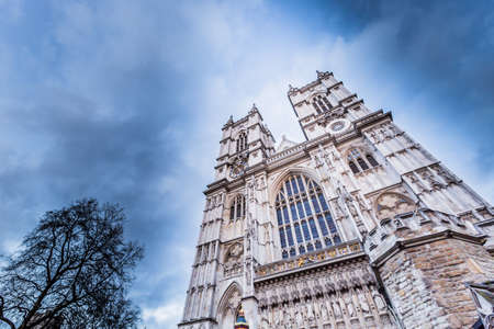 Westminster Abbey (The Collegiate Church of St Peter at Westminster) in London,UK 版權商用圖片