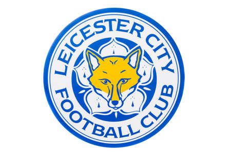 BANGKOK, THAILAND -April 24, 2016: the logo of Leicester City football club on the billboard. 版權商用圖片 - 55837625