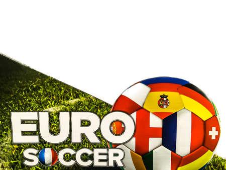 BANGKOK, THAILAND - June 9, 2016: logo of the 2016 UEFA European Championship in France on billboard at Central Shopping Mall. 版權商用圖片 - 58009424