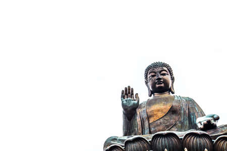 Giant Buddha isolated over white background, with copyspace 版權商用圖片 - 62609198