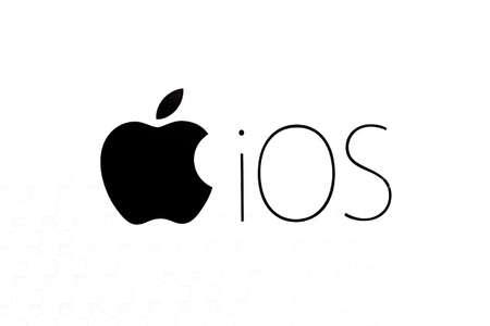 Bangkok, Thailand - October 29, 2016: Operating system Apple IOS logo on paper.